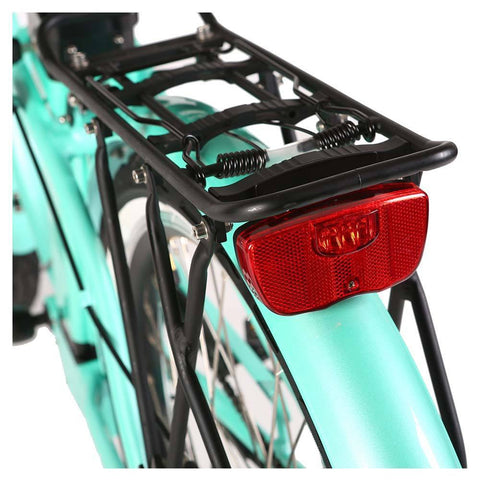 Image of malibu elite teal green rear fender and cargo rack