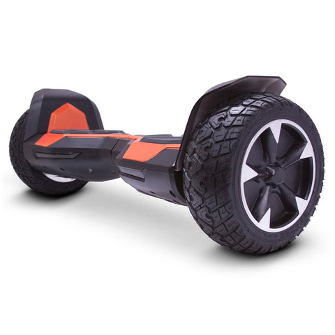 Image of mototec hoverboard ninja orange left angle