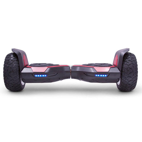 Image of mototec hoverboard ninja red front