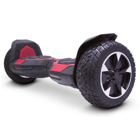 Image of mototec hoverboard ninja red left angle