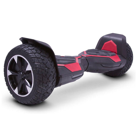 Image of mototec hoverboard ninja red right angle