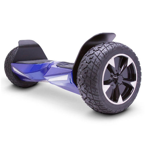 Image of mototec hoverboard transformer blue left angle