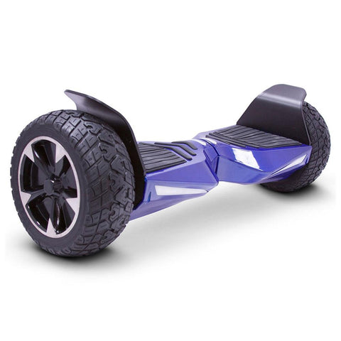 Image of mototec hoverboard transformer blue right angle