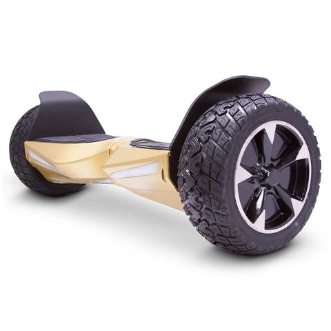 Image of mototec hoverboard transformer gold left angle