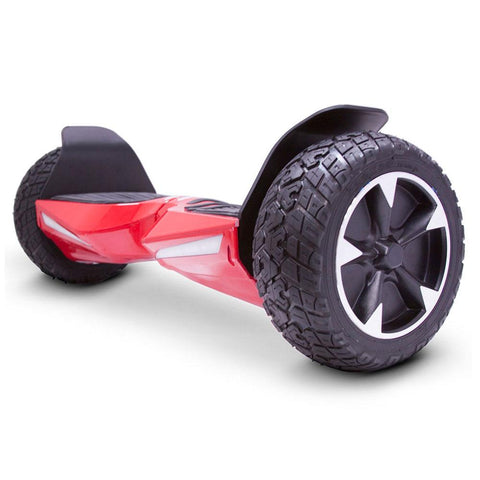 Image of mototec hoverboard transformer red left angle