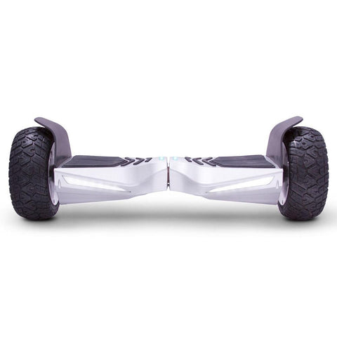 mototec hoverboard transformer silver front