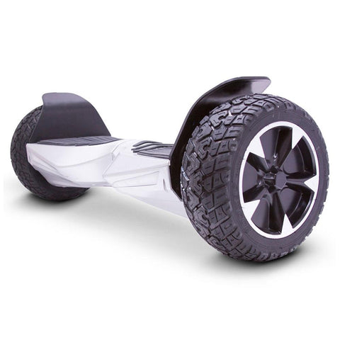 Image of mototec hoverboard transformer silver left angle