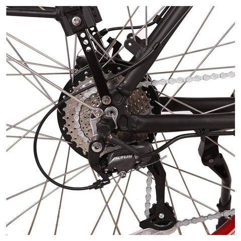 Image of santa 48v rear sprocket and derailleur