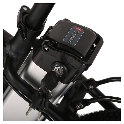 Image of trail climber 24v elite bike battery close up