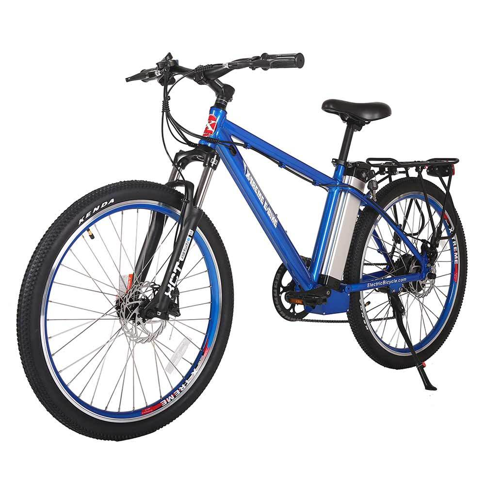trail maker elite 24v metallic blue left angle