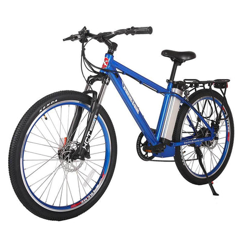 Image of trail maker elite 24v metallic blue left angle