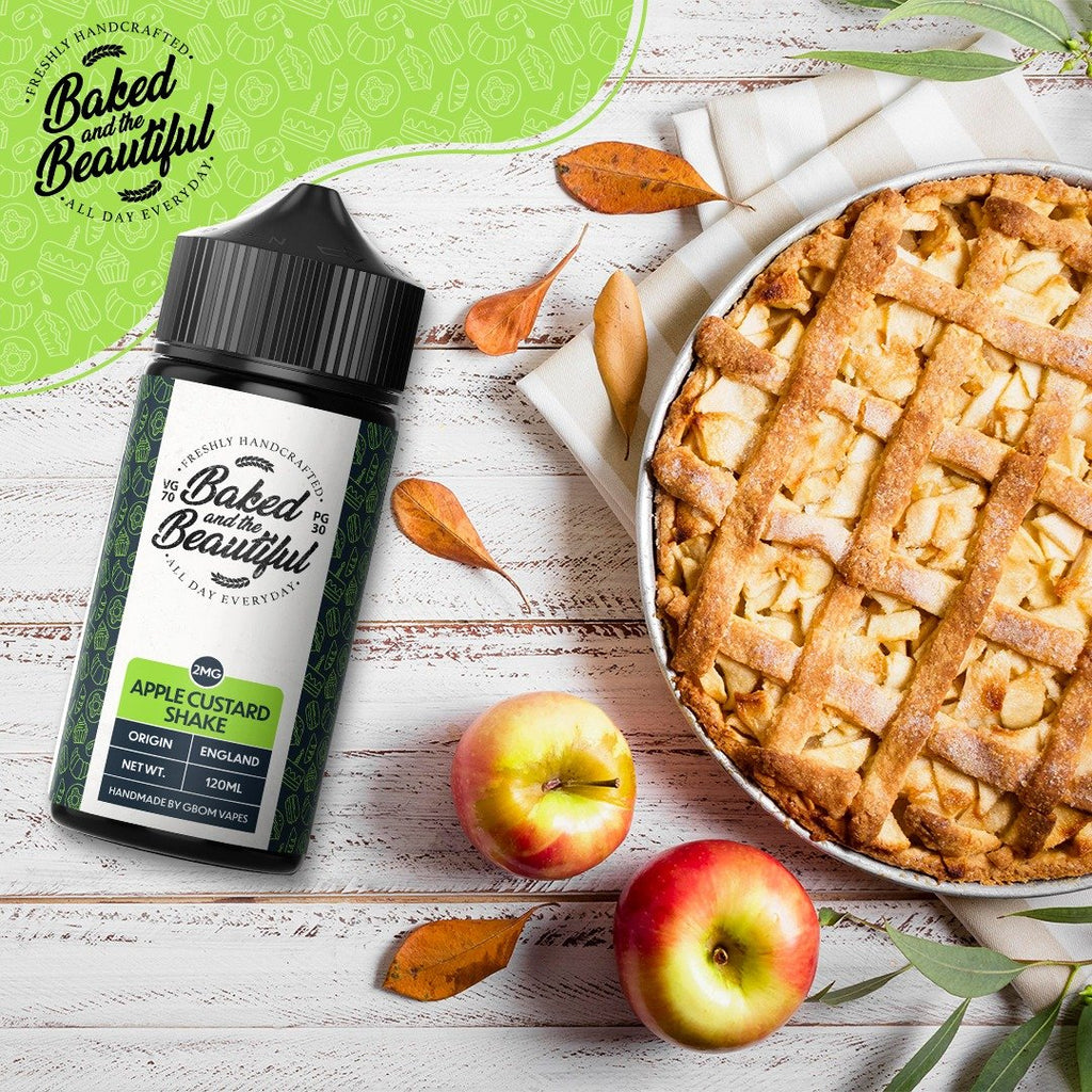 GBOM E-Liquid Baked & The Beautiful - Apple Custard Shake 120ml