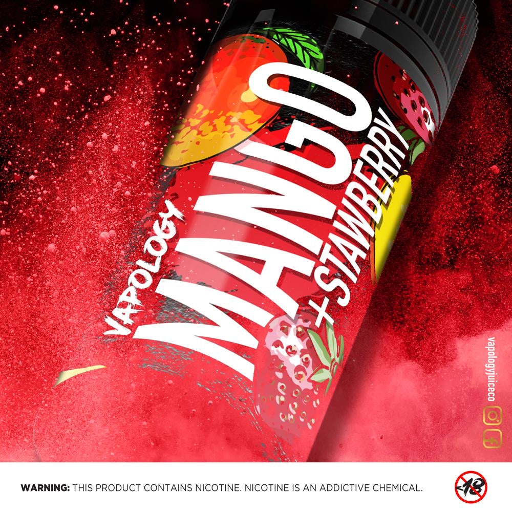 Vapology - Mango, Strawberry ICE 120ML - Vapeville.co.za