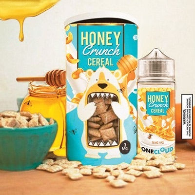 One Cloud - Honey Crunch Cereal 120ml - Vapeville.co.za