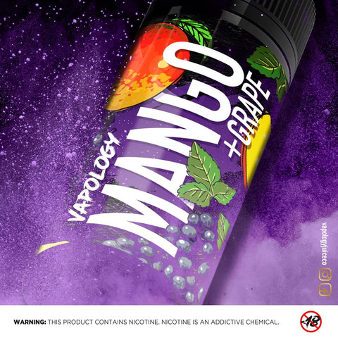 Vapology - Mango, Grape ICE 120ML - Vapeville.co.za