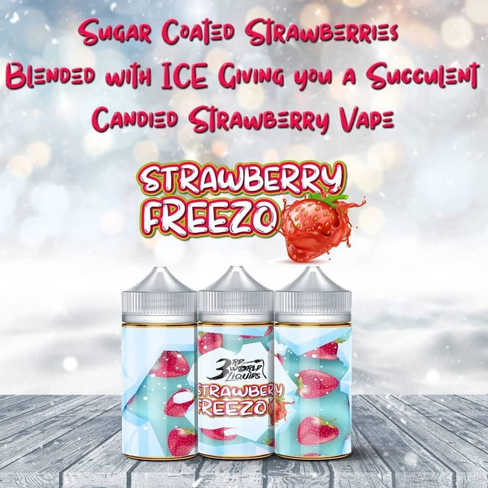 3rd World Liquids - Strawberry Freezo 100ml - Vapeville.co.za