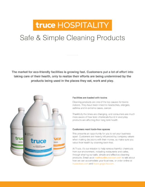 Hospitality natural, safe cleaning commercial supplies