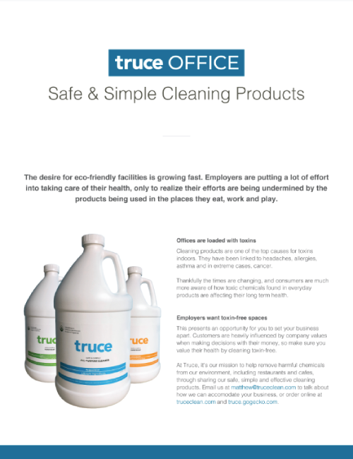 Natural, safe and effective cleanning supplies for offices