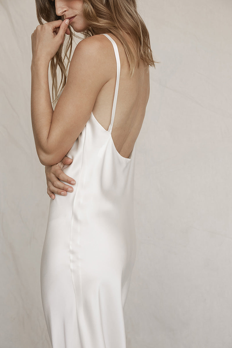 silk wrap dress white bridesmaid dress wedding