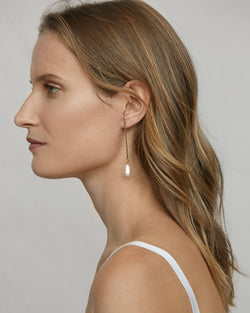 Pearl Drop Earrings - Vermeil