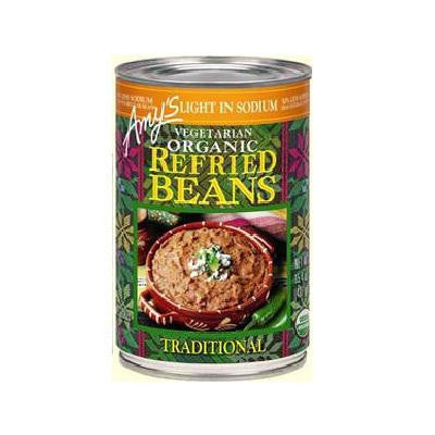 Amy's Kitchen Refried Traditional Beans Low Sodium (12x15.4 Oz) - Rhea Manor Natural Market