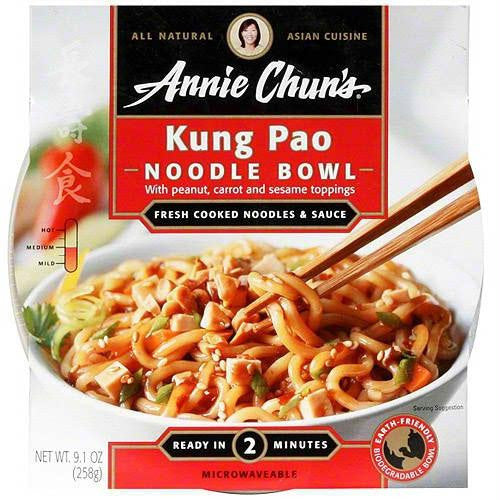 Annie Chun's Kung Pao Noodle Bowl (6x9.1 Oz) - Rhea Manor Natural Market