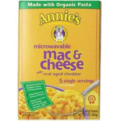 Annie's Homegrown Microwavable Wisconsin Macaroni & Cheese (6x10.7 Oz) - Rhea Manor Natural Market