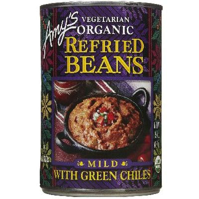 Amy's Kitchen Refried Beans With Green Chili's (12x15.4 Oz) - Rhea Manor Natural Market