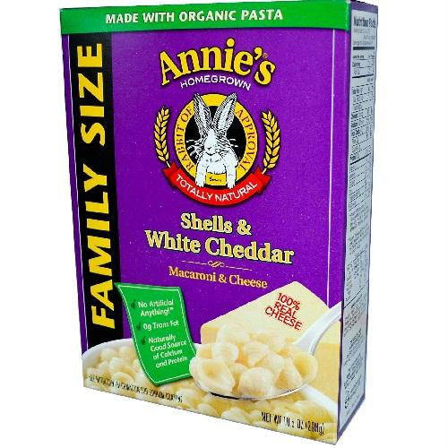 Annie's Shells & White Cheddar Family Size (6x10.5 Oz) - Rhea Manor Natural Market
