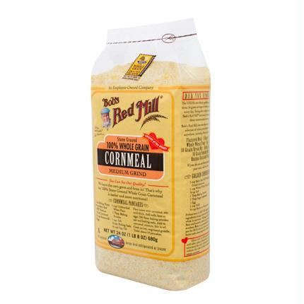 Bob's Medium Grind Cornmeal ( 4x24 Oz) - Rhea Manor Natural Market