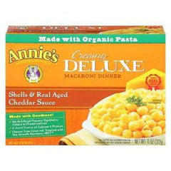 Annie's Deluxe Shells & Aged Wisconsin Cheddar (12x11 Oz) - Rhea Manor Natural Market