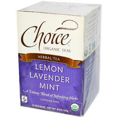 Choice Organic Teas Lemon Lavender Mint Tea Ft (6x16 Bag) - Rhea Manor Natural Market