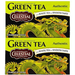 Celestial Seasonings Authentic Green Tea (6x20 Bag) - Rhea Manor Natural Market