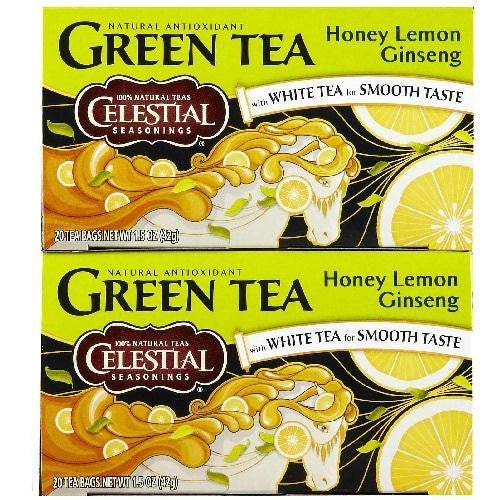Celestial Seasonings Honey Lemon Ginseng Green Tea (6x20 Bag) - Rhea Manor Natural Market