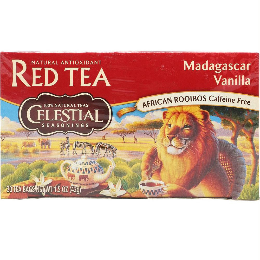 Celestial Seasoning Madagascar Vanilla Red Herb Tea (6x20 Bag) - Rhea Manor Natural Market