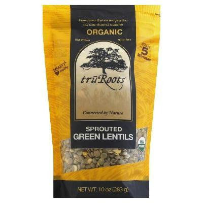 Truroots Green Sprouted Lentil (6x10 Oz) - Rhea Manor Natural Market