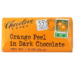 Chocolove Dark Chocolate Orange Peel Bar (12x3.2 Oz) - Rhea Manor Natural Market