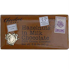 Chocolove Milk Chocolate Bar With Hazelnut (12x3.2 Oz) - Rhea Manor Natural Market