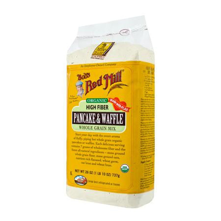 Bob's Red Mill High Fiber Pancake Waffle Mix (4x26 Oz) - Rhea Manor Natural Market