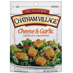 Chatham Village Cheese & Garlic Croutons (12x5 Oz) - Rhea Manor Natural Market