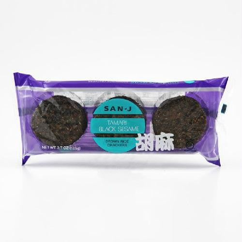 San-j Sesame Brown Rice Crackers (12x3.7 Oz) - Rhea Manor Natural Market