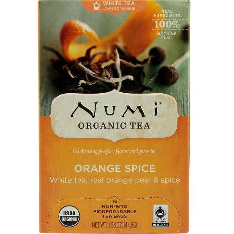 Numi Tea Orange Spice White Tea (6x16 Bag)