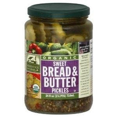 Woodstock Bread & Butter Sweet Pickles (6x24 Oz) - Rhea Manor Natural Market