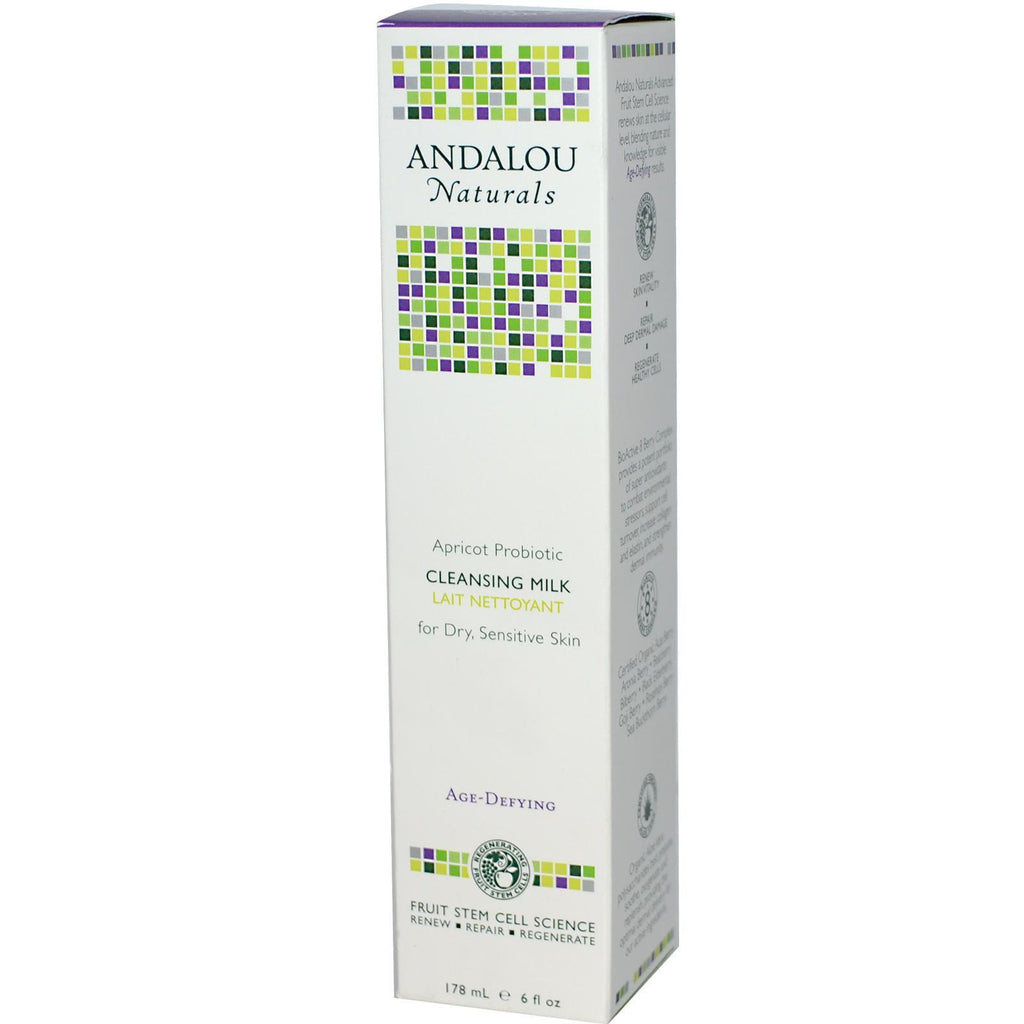 Andalou Naturals Apricot Probiotic Cleansing Milk (1x6 Oz) - Rhea Manor Natural Market