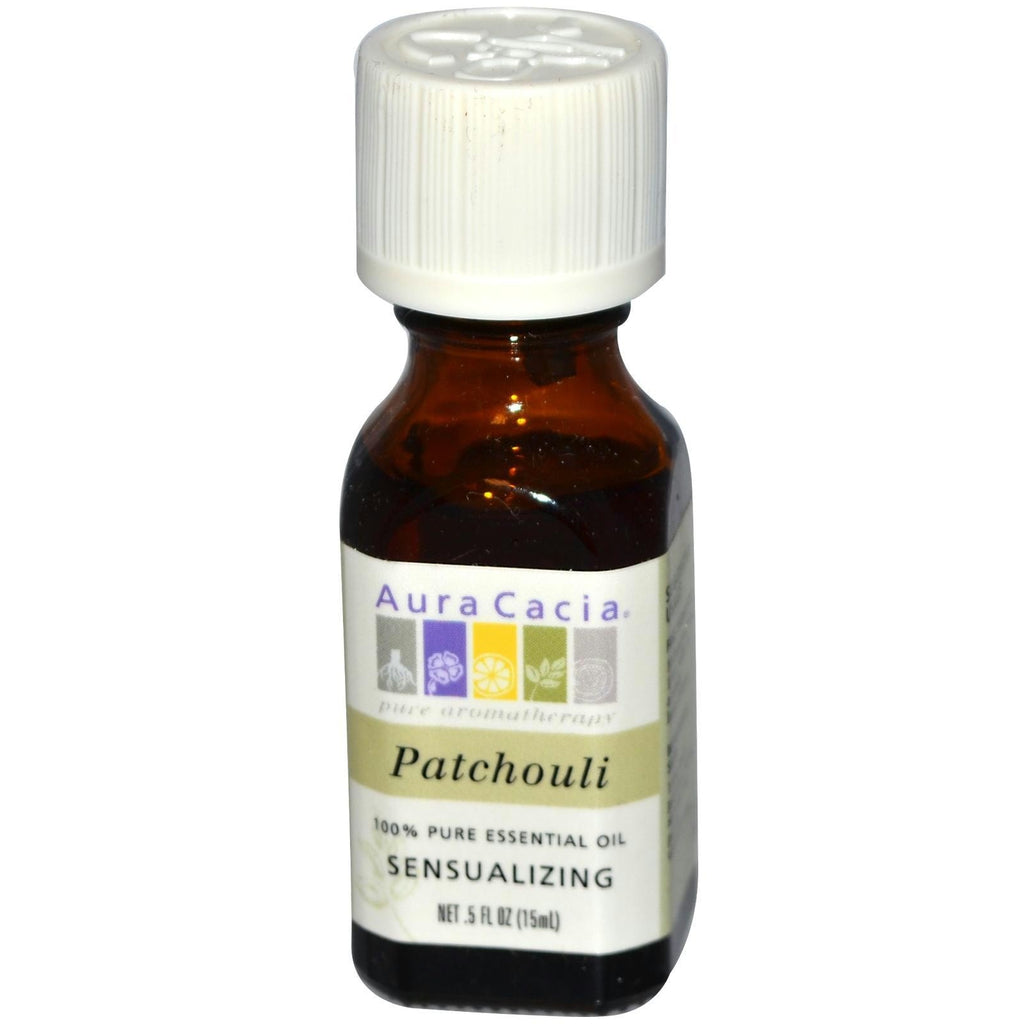 Aura Cacia Patchouli Essential Oil (1x0.5oz) - Rhea Manor Natural Market