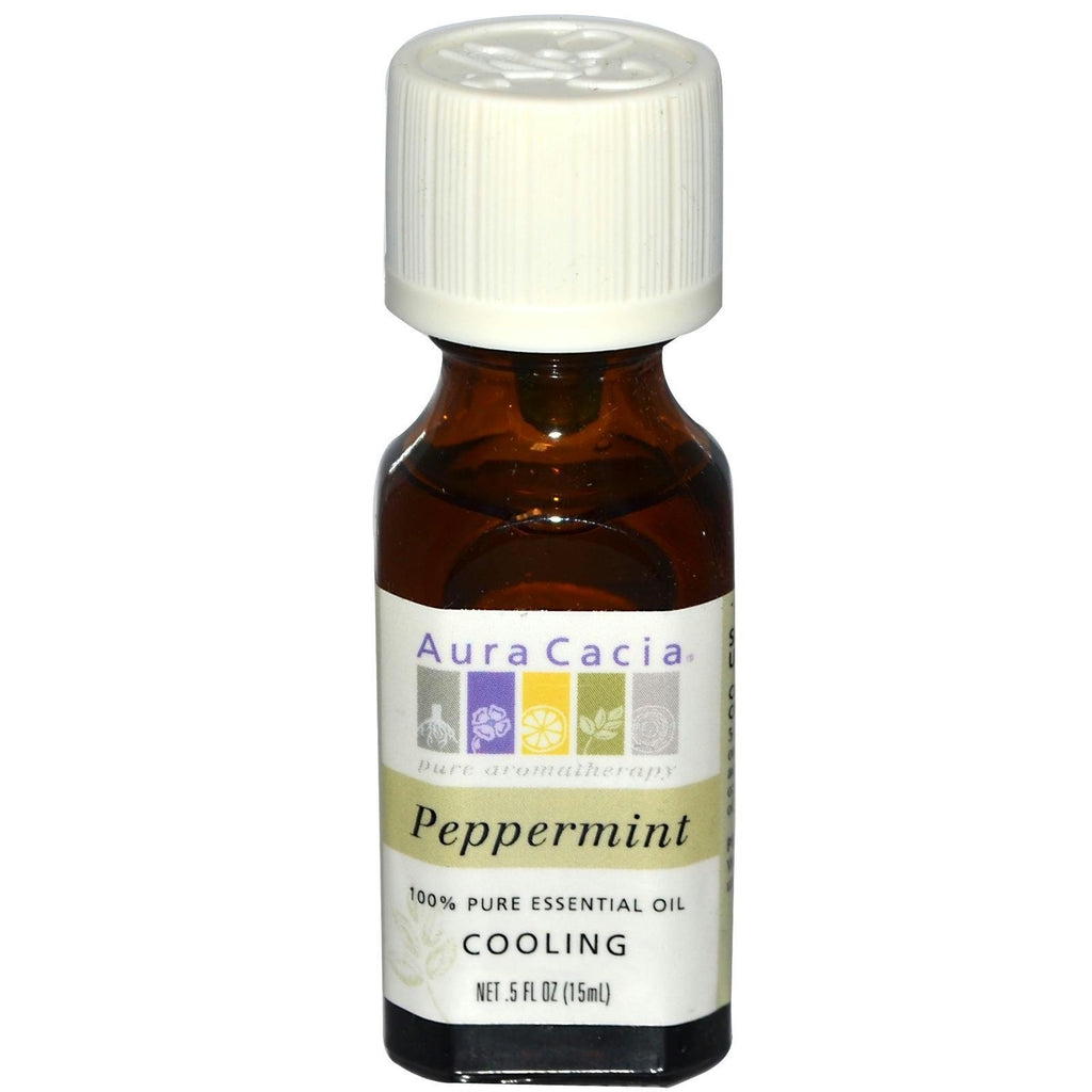 Aura Cacia Peppermint Essential Oil (1x0.5oz) - Rhea Manor Natural Market