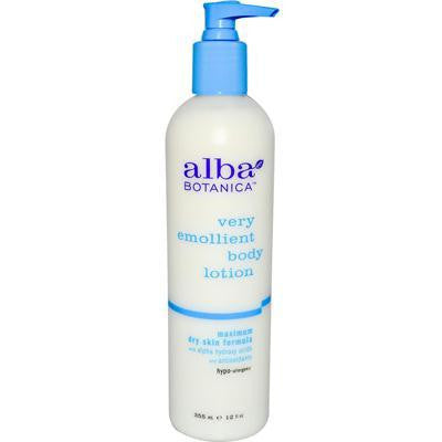 Alba Botanica Very Emollient Dry Body Lotion (1x12 Oz) - Rhea Manor Natural Market