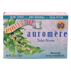 Auromere Tulsi Neem Bar Soap (1x2.75 Oz) - Rhea Manor Natural Market