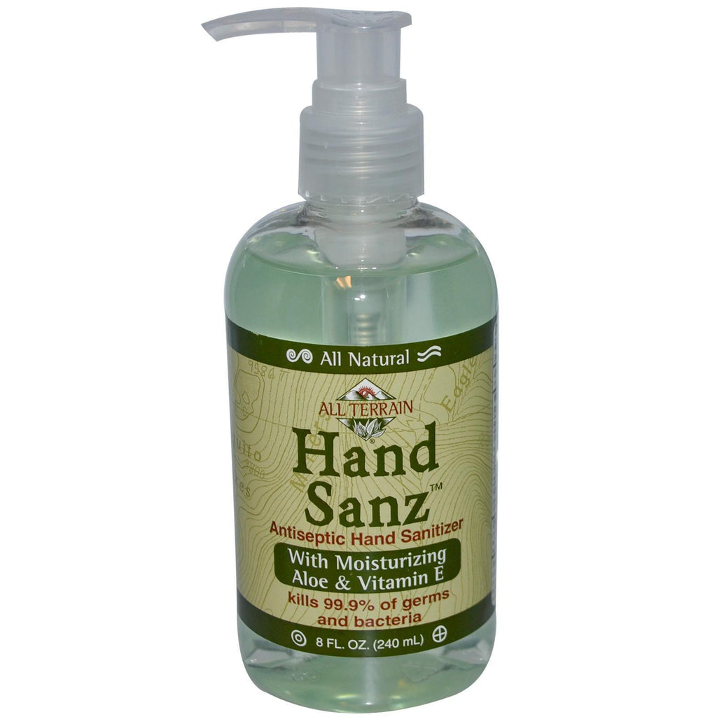 All Terrain Hand Sanitizer Aloe & Vitamin E (1x8 Oz) - Rhea Manor Natural Market