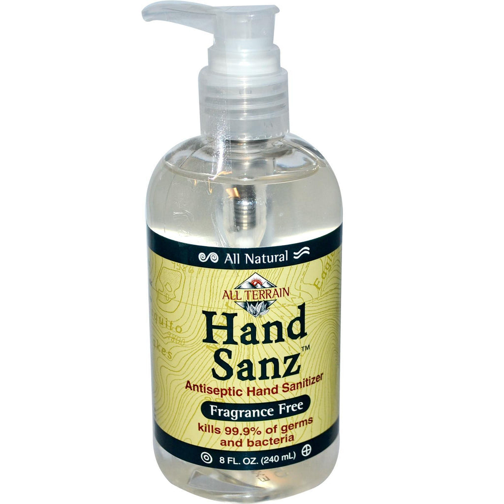 All Terrain Hand Sanitizer Fragrance Free (1x8 Oz) - Rhea Manor Natural Market